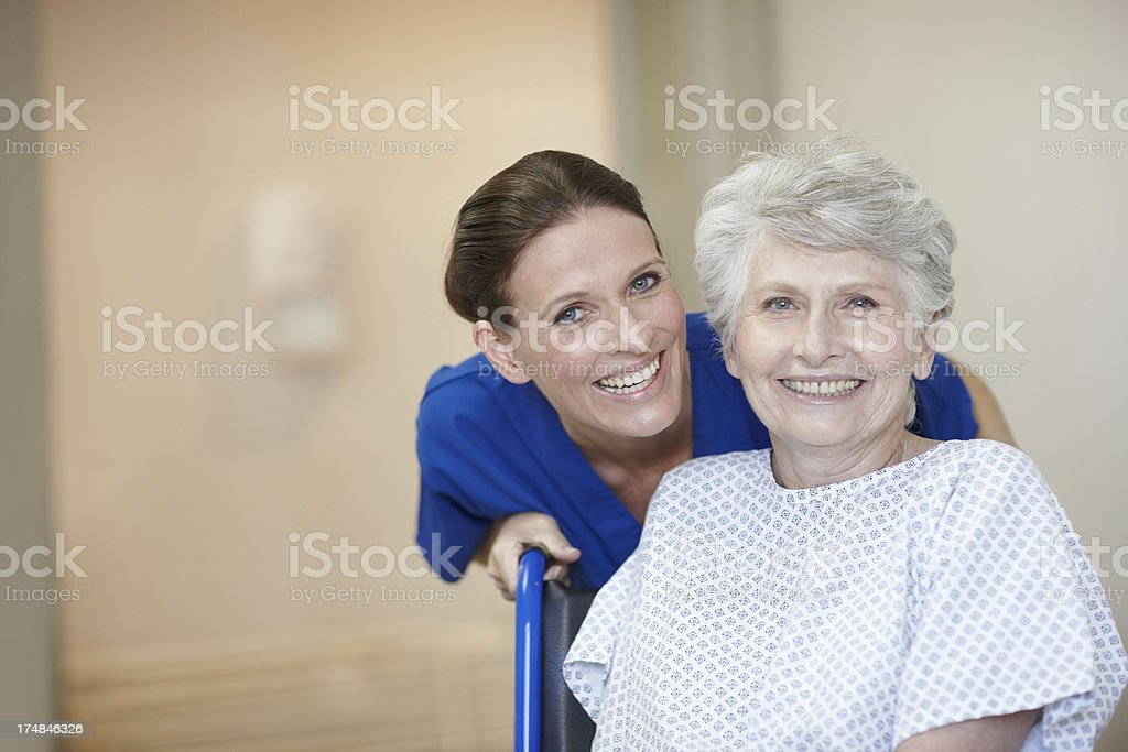 She cares about her patient's needs royalty-free stock photo