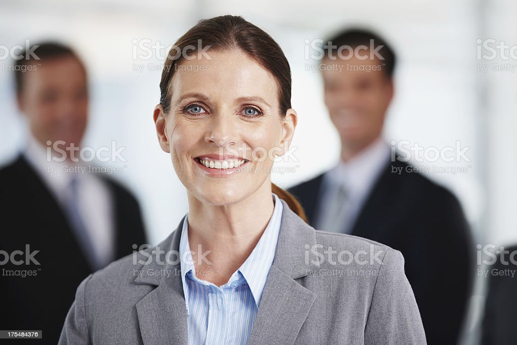 She creates her own success stock photo