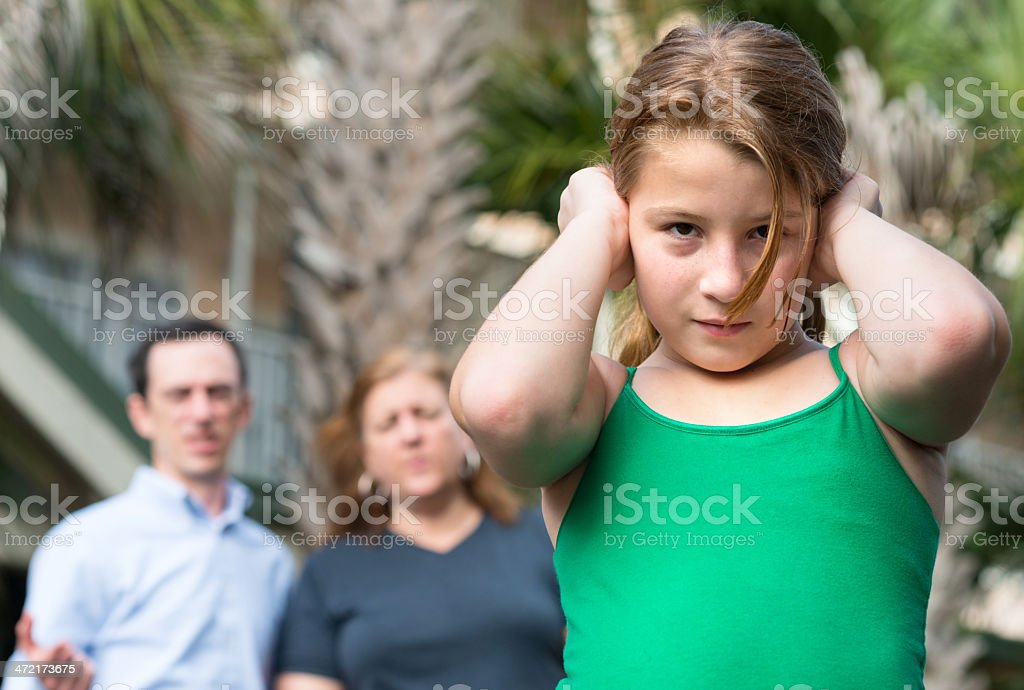 She does not listen royalty-free stock photo