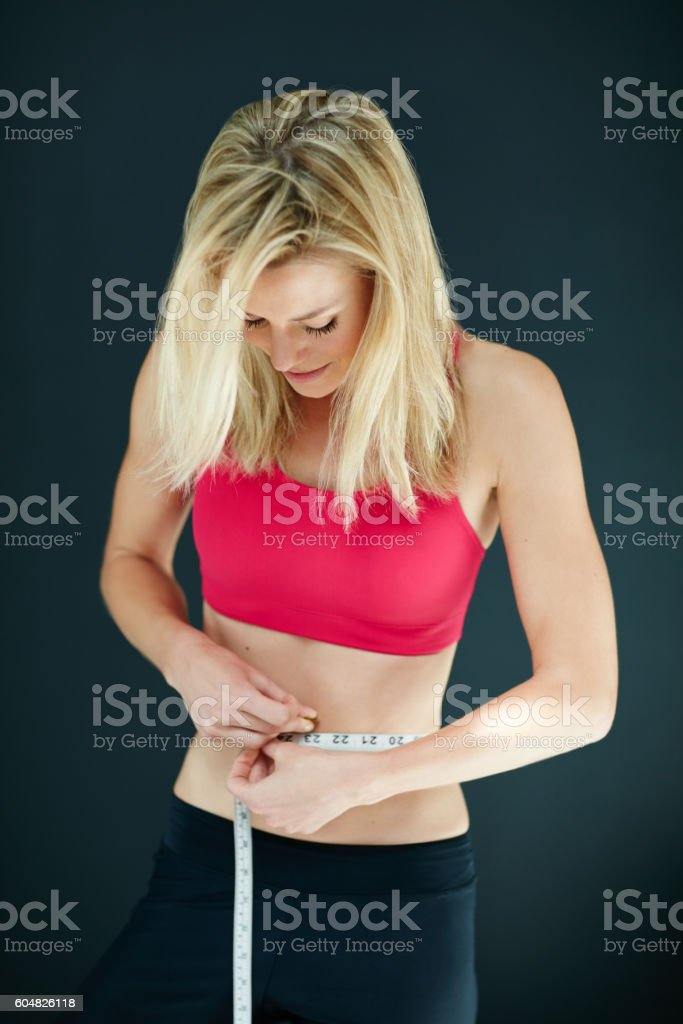 She dropped another dress size stock photo