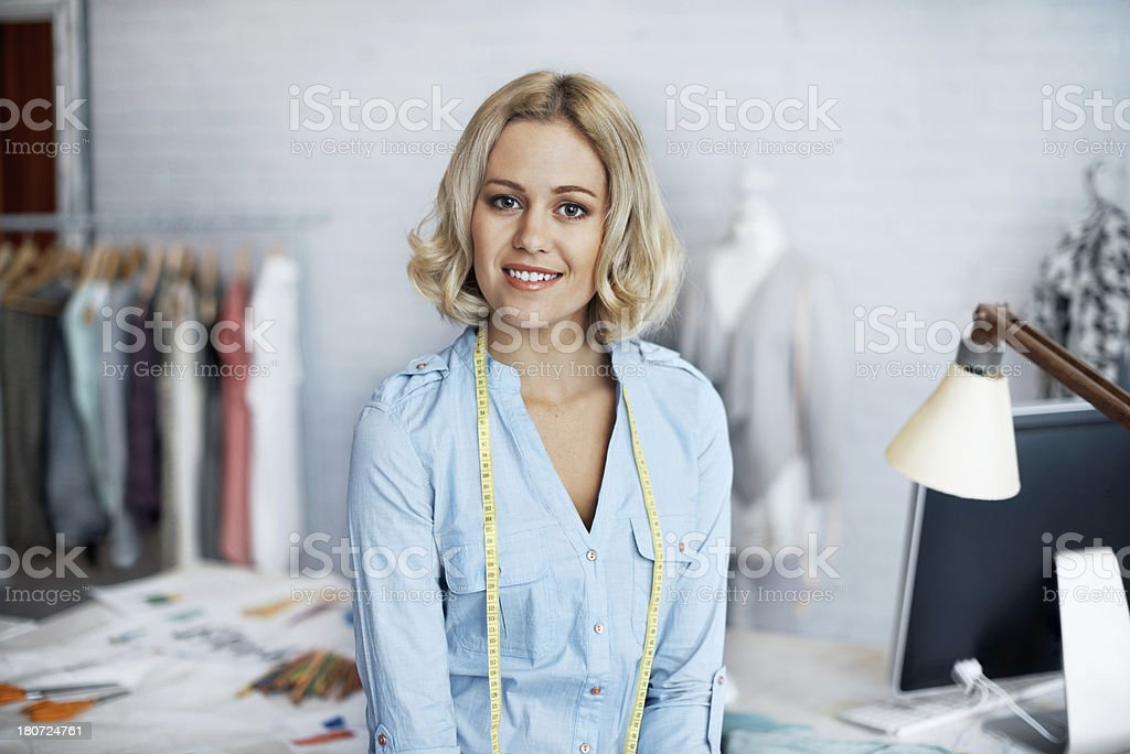 She enjoys her job royalty-free stock photo