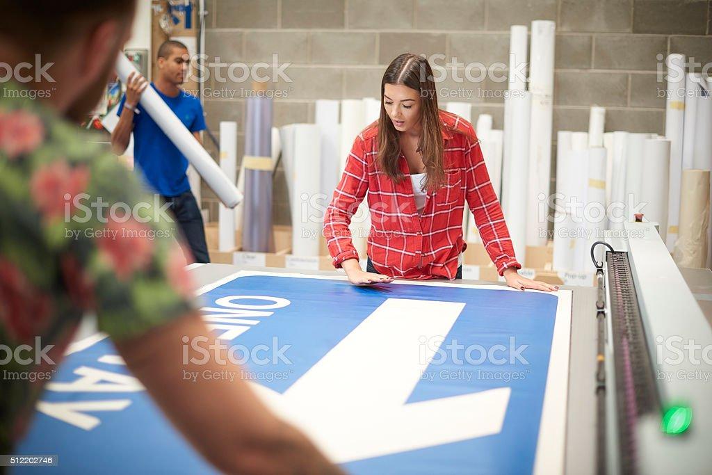 she enjoys her work stock photo