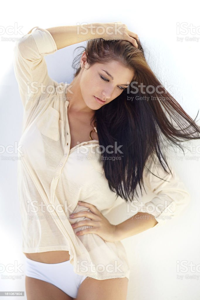 She feels proud of her body royalty-free stock photo