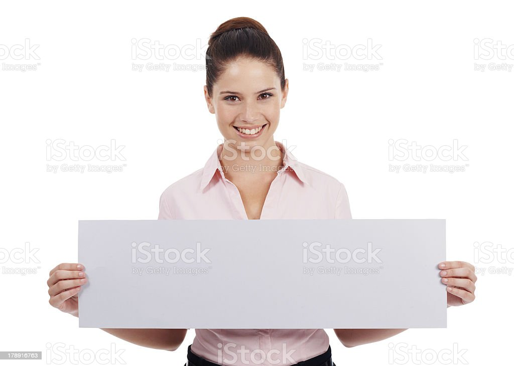She fully supports your message! stock photo