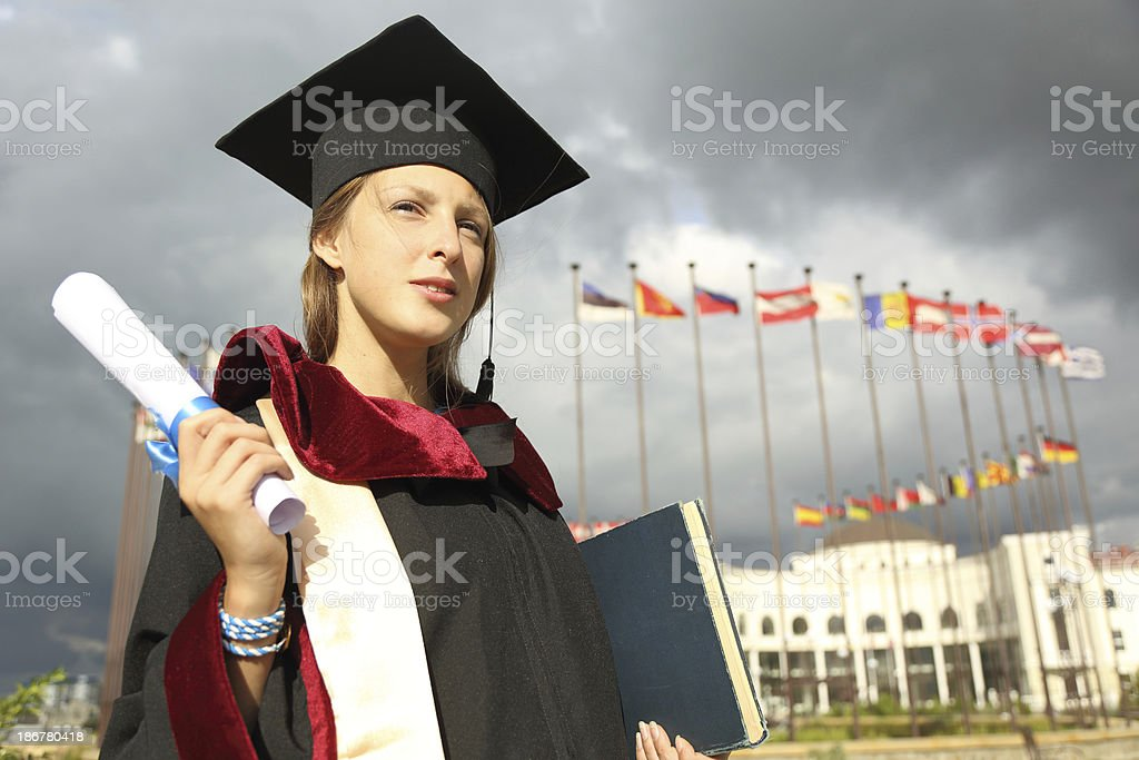 she graduated royalty-free stock photo