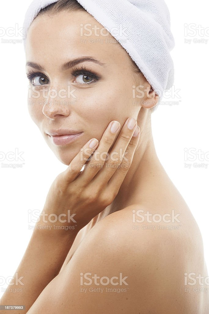 She had a great day at the spa royalty-free stock photo