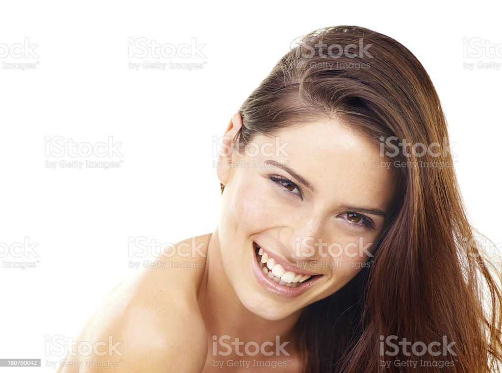 She has a healthy attitude about beauty royalty-free stock photo