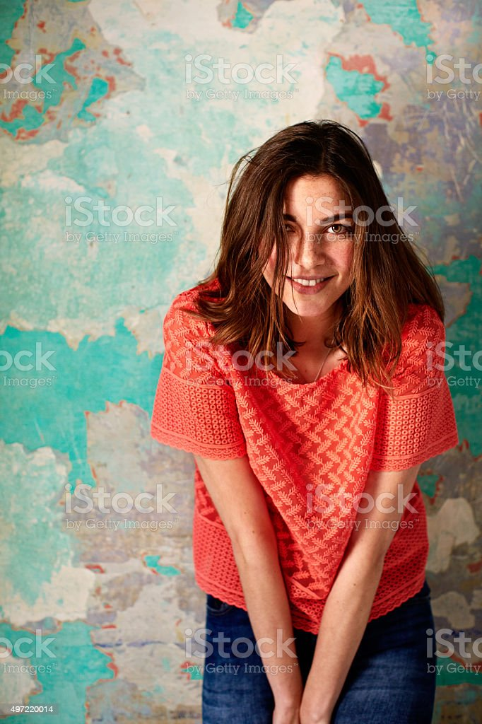 She has a zest for life! stock photo
