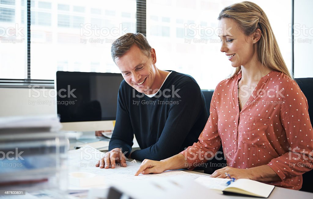 She has an idea for the project royalty-free stock photo