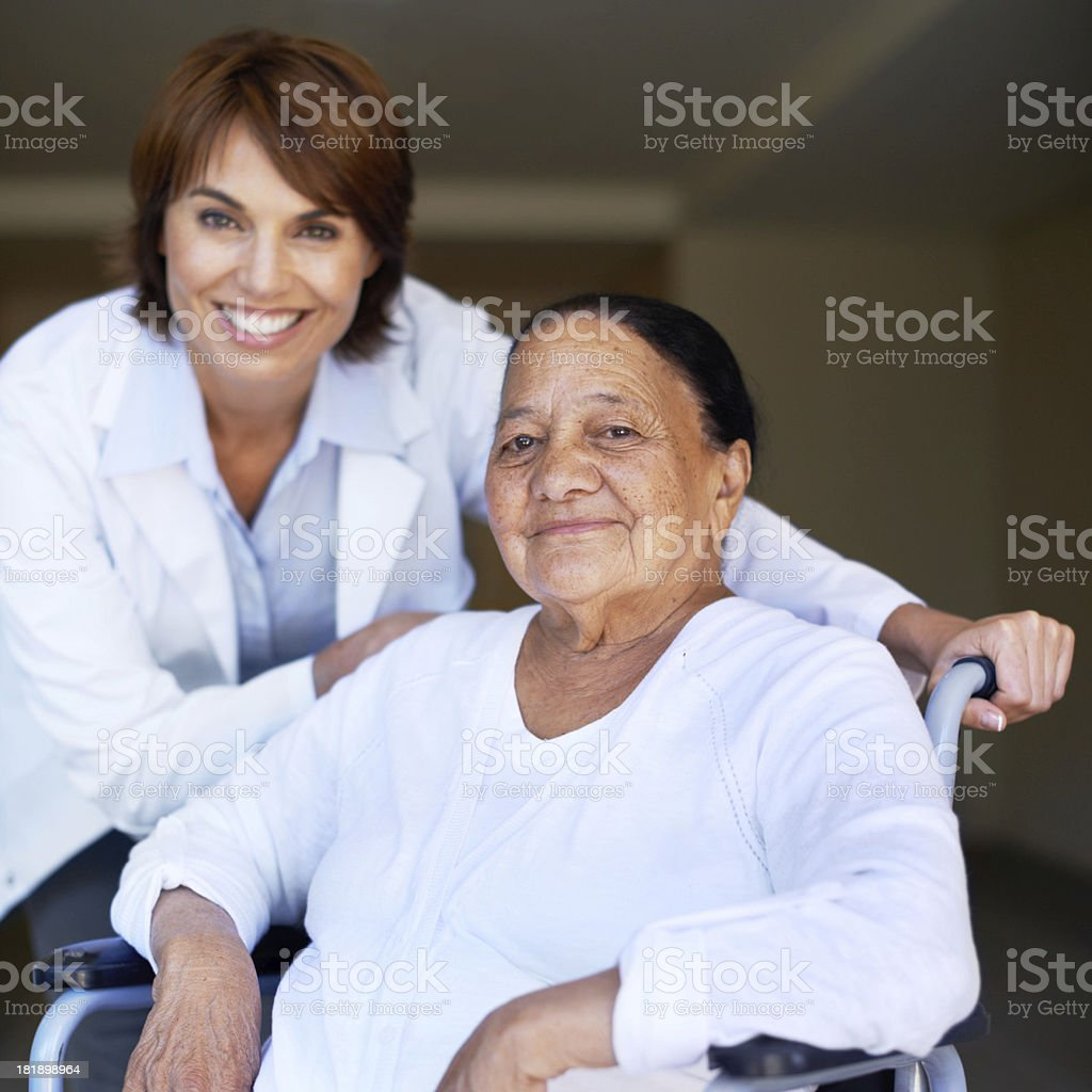 She has full confidence in her healthcare providers... royalty-free stock photo