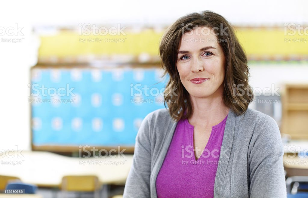 She has her students best interests in mind stock photo