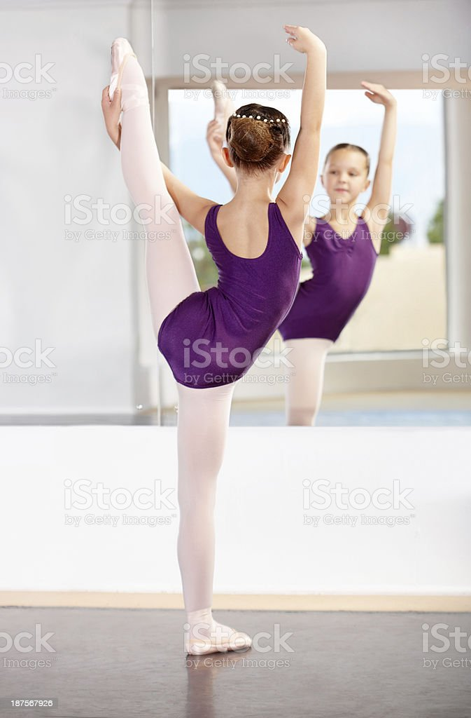 She has perfect poise royalty-free stock photo