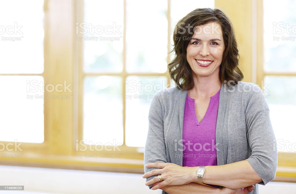 She has your child's best interests at heart stock photo