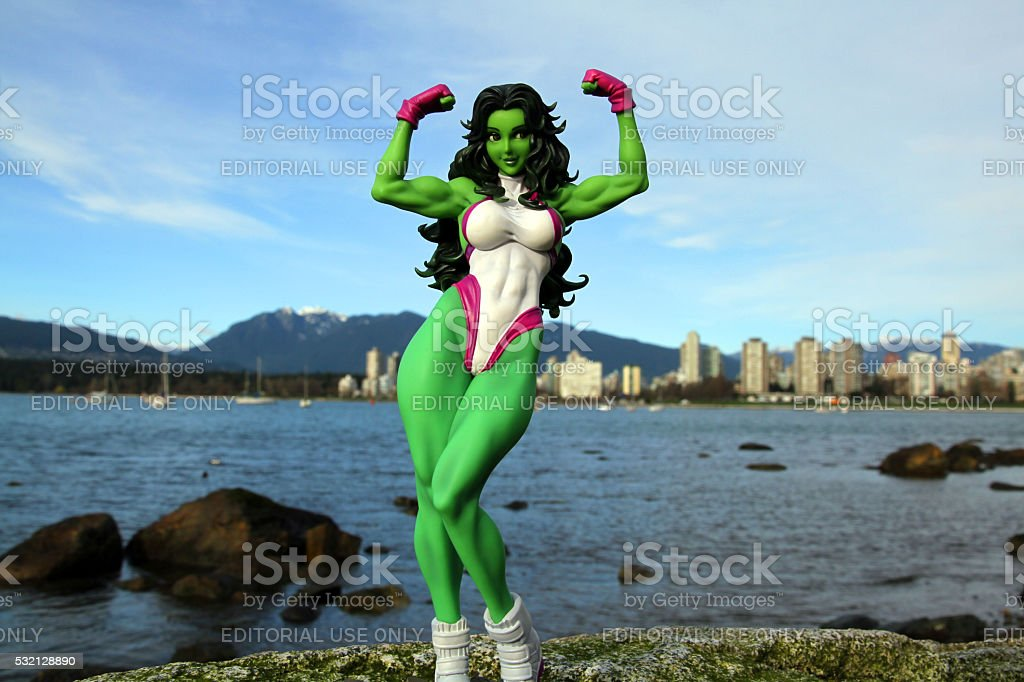 She Hulk and the Shore stock photo