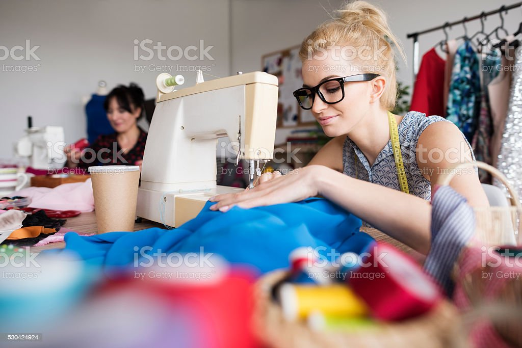 She is a passionate fashion creators stock photo