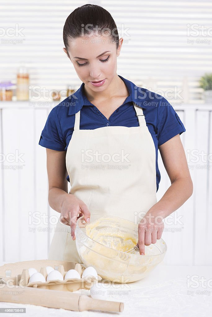 She is a pastry expert. royalty-free stock photo
