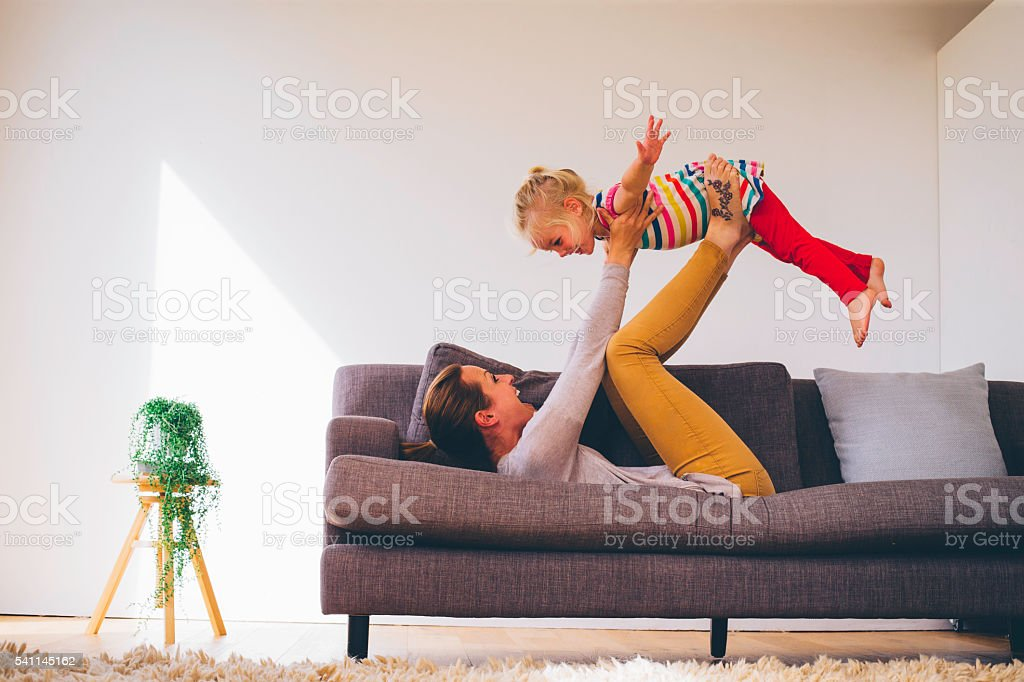 She is Flying High! stock photo