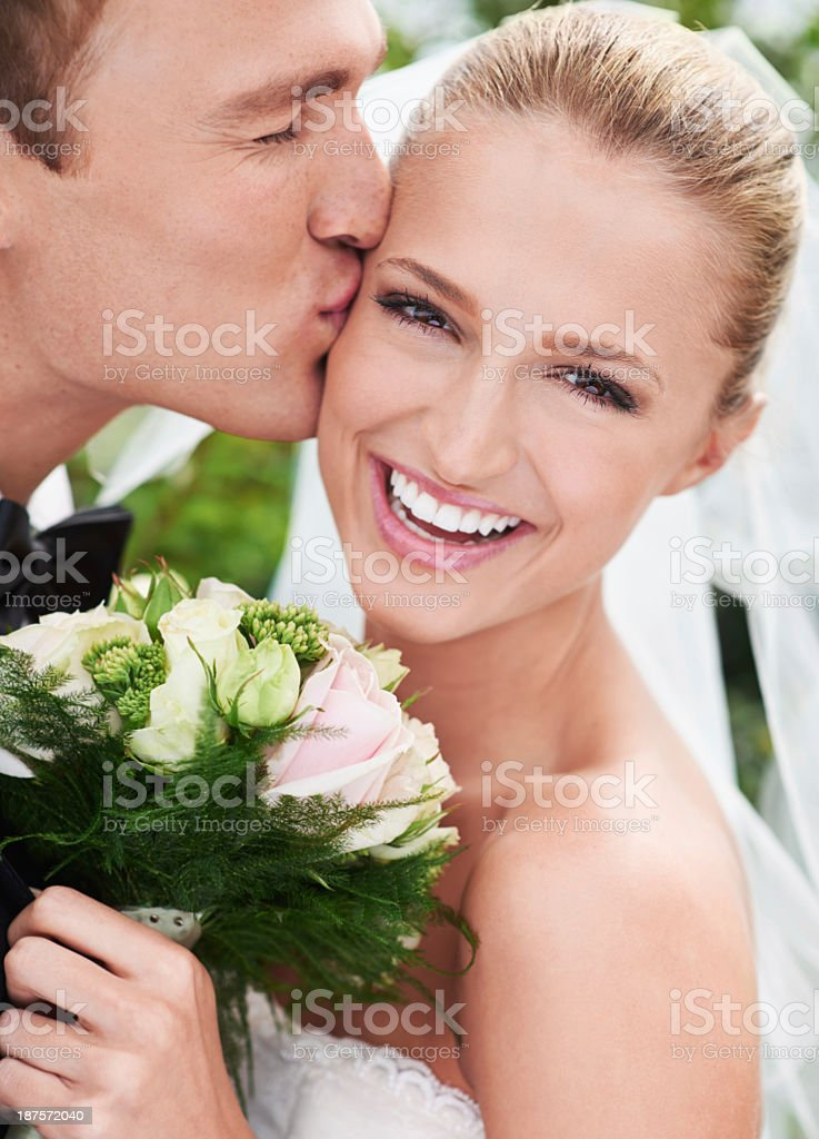 She is his dream come true stock photo