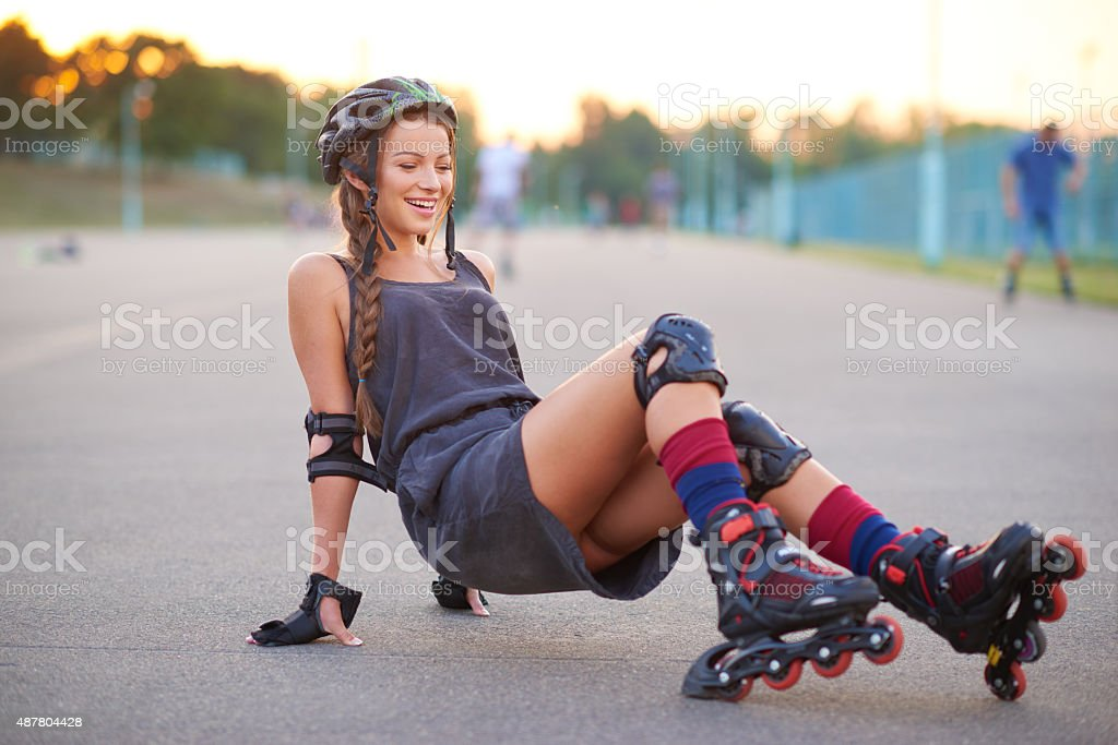 She is never give up stock photo