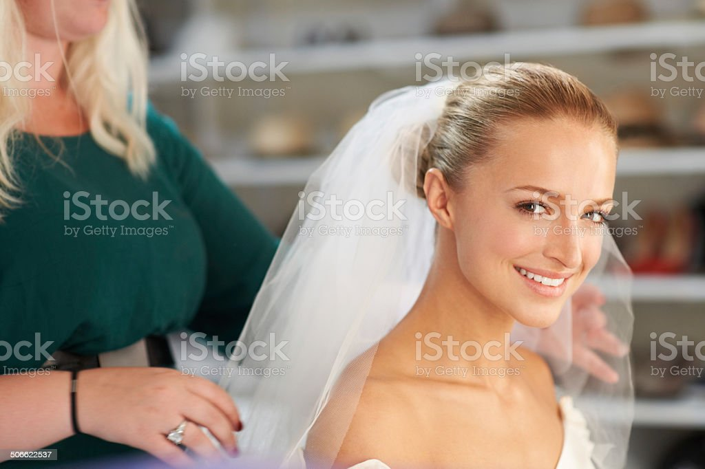 She is picture perfect stock photo
