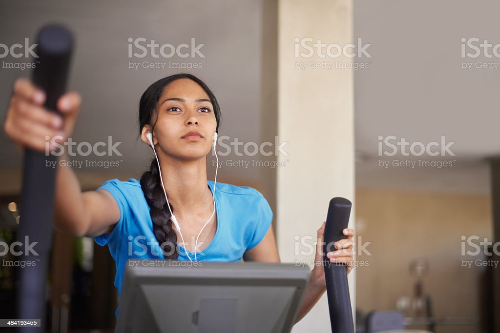 She joined the gym to increase her health stock photo