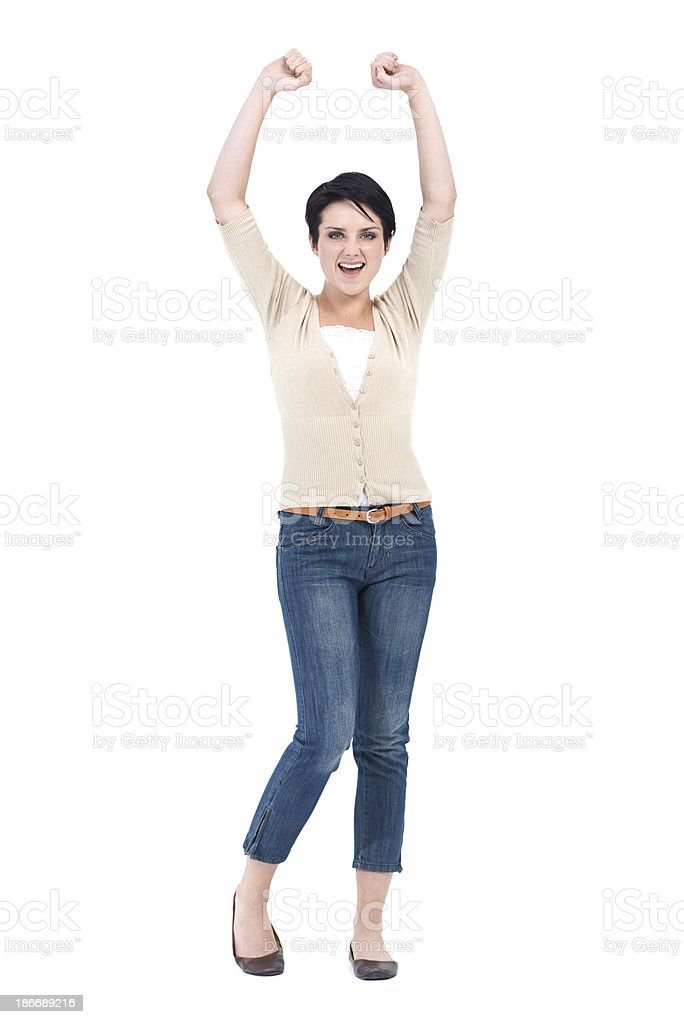 She just got promoted royalty-free stock photo