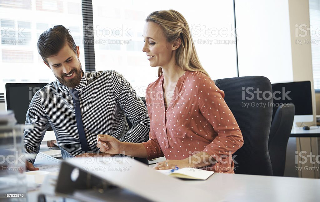 She just wants to make a few corrections royalty-free stock photo