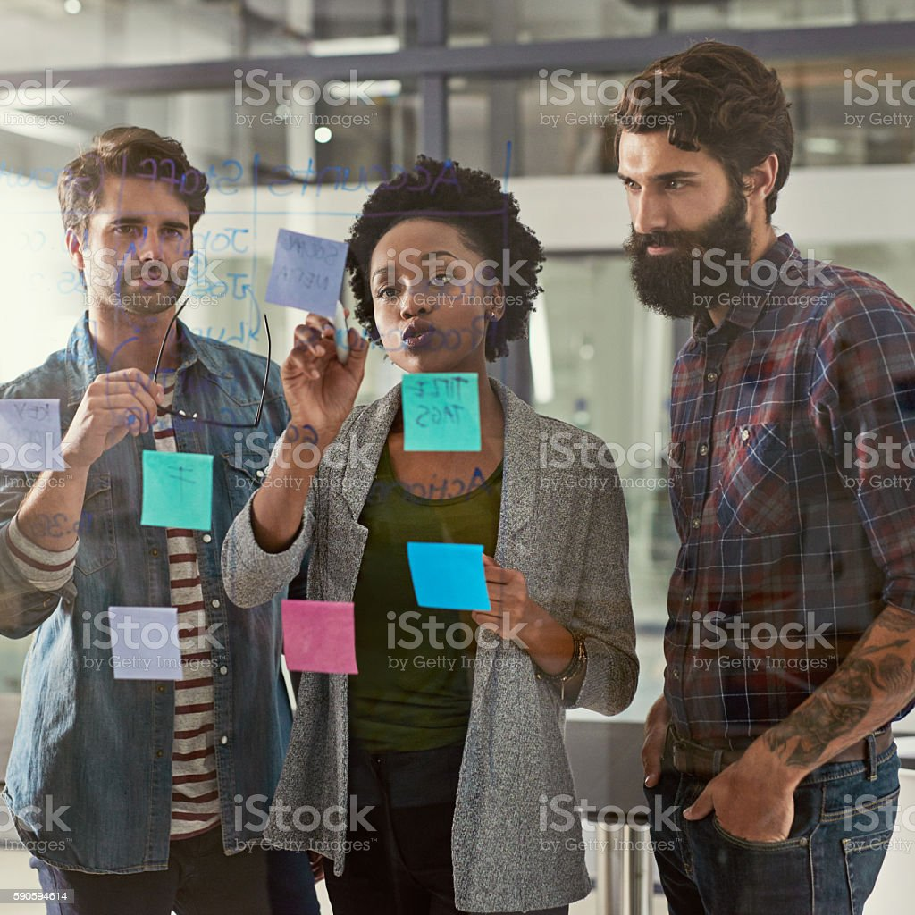 She knows exactly how to solve this one stock photo