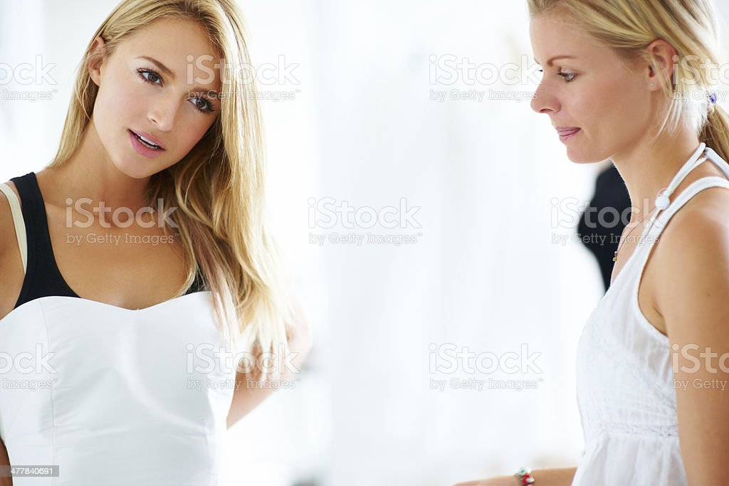She knows exactly what she's looking for stock photo