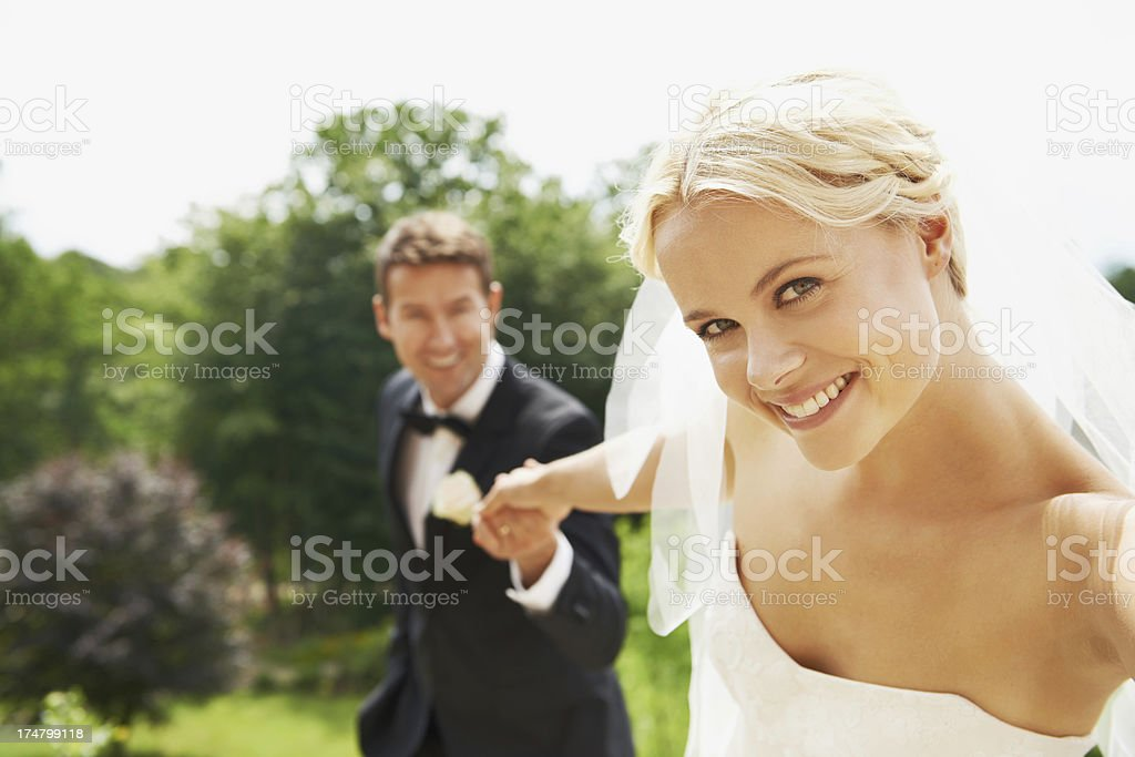 She knows he's always there for her royalty-free stock photo