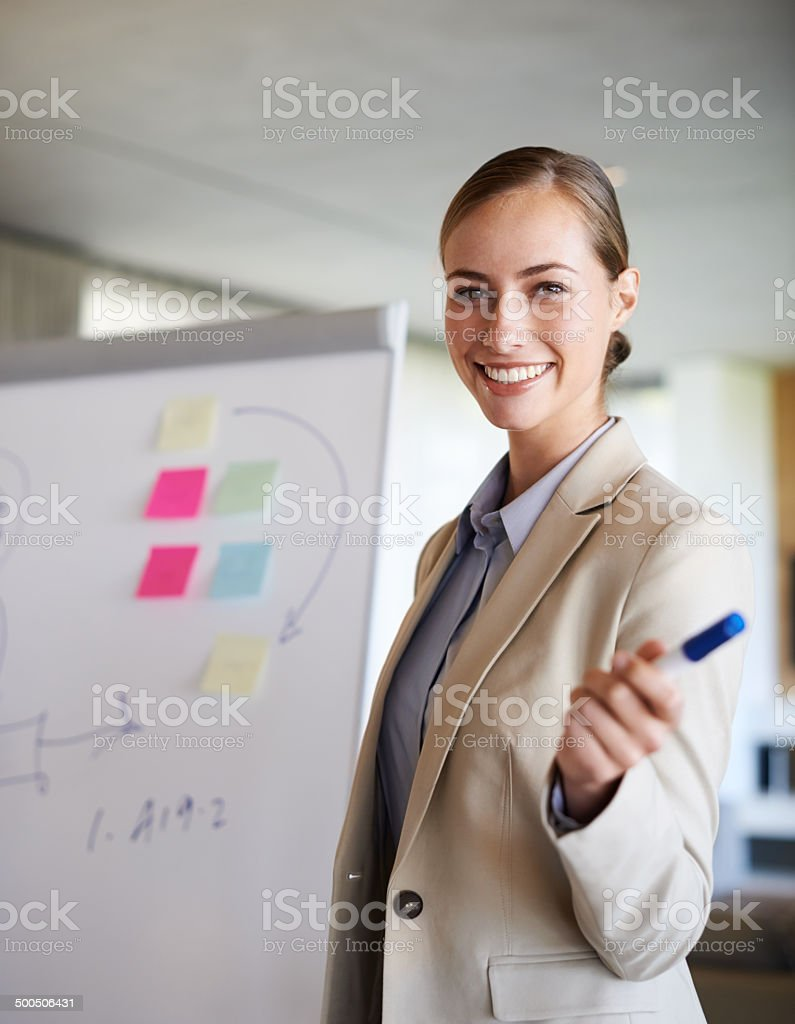 She knows how to work a room stock photo