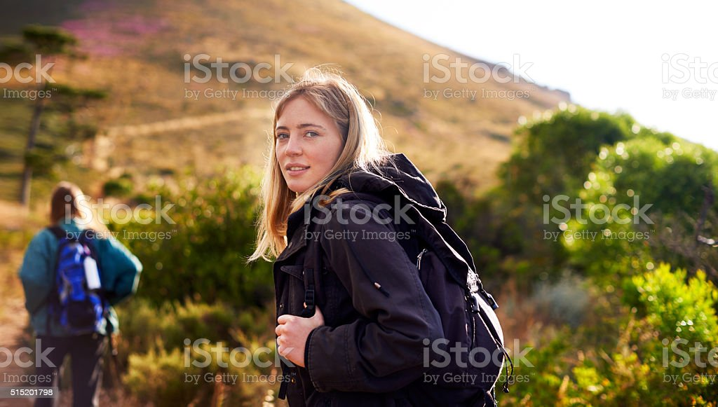 She knows the way stock photo