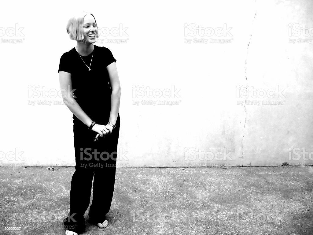 She laughs...... royalty-free stock photo