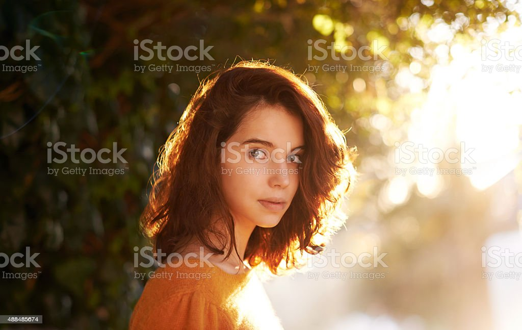 She left beauty wherever she went stock photo