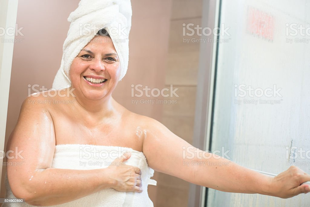 She likes to sweat stock photo