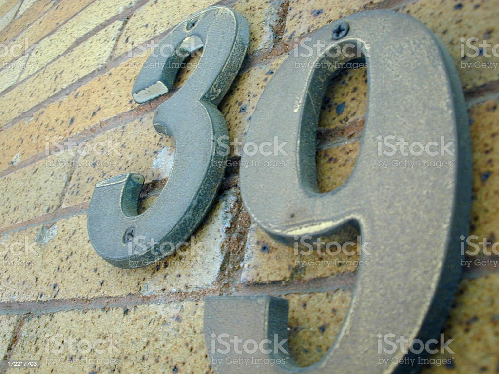 She lives at Number 39 royalty-free stock photo