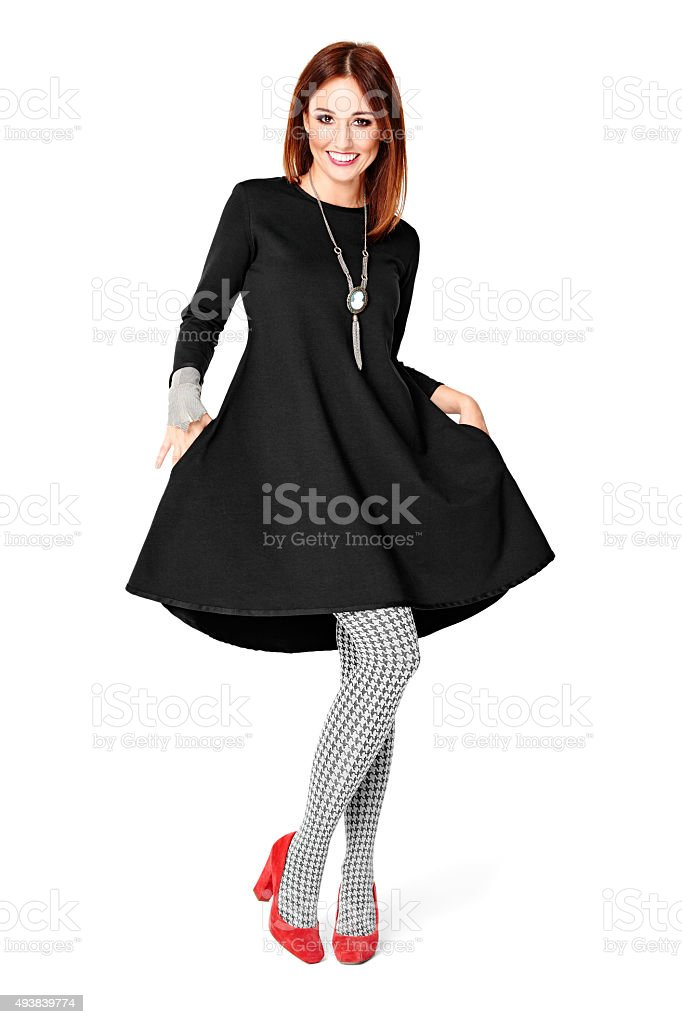 She Looks Fantastic In This Dress stock photo