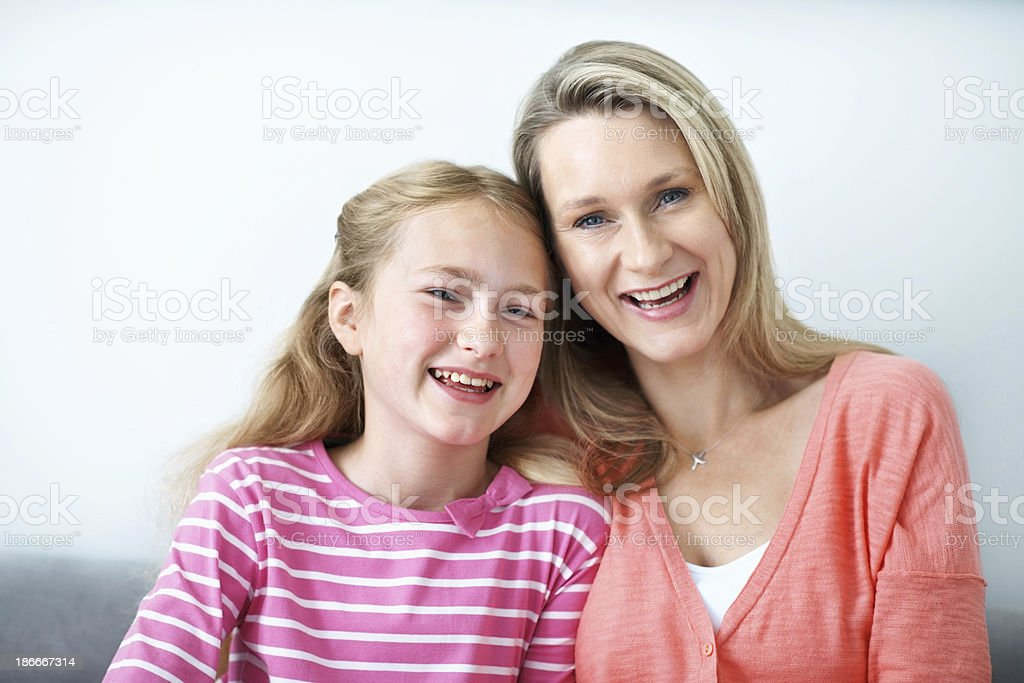 She looks just like her mom! royalty-free stock photo