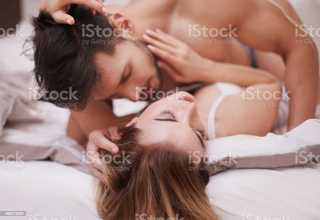 She loves being adored by his beloved stock photo