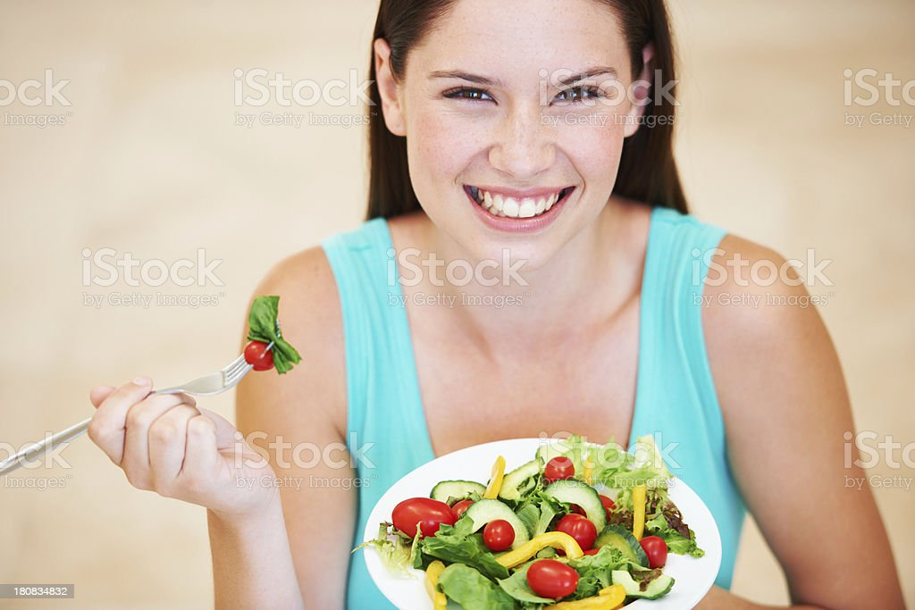 She loves her greens royalty-free stock photo
