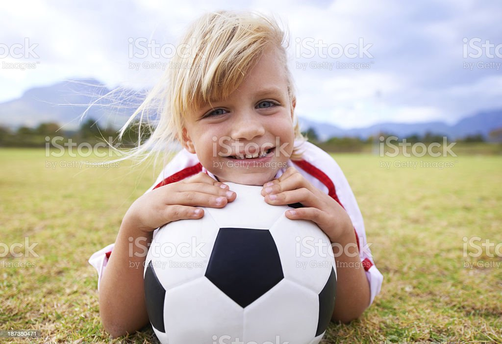 She loves the game royalty-free stock photo
