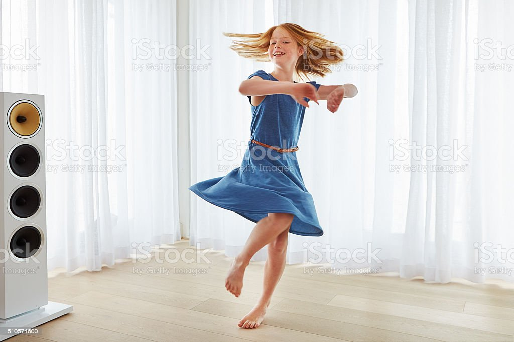 She loves to dance stock photo