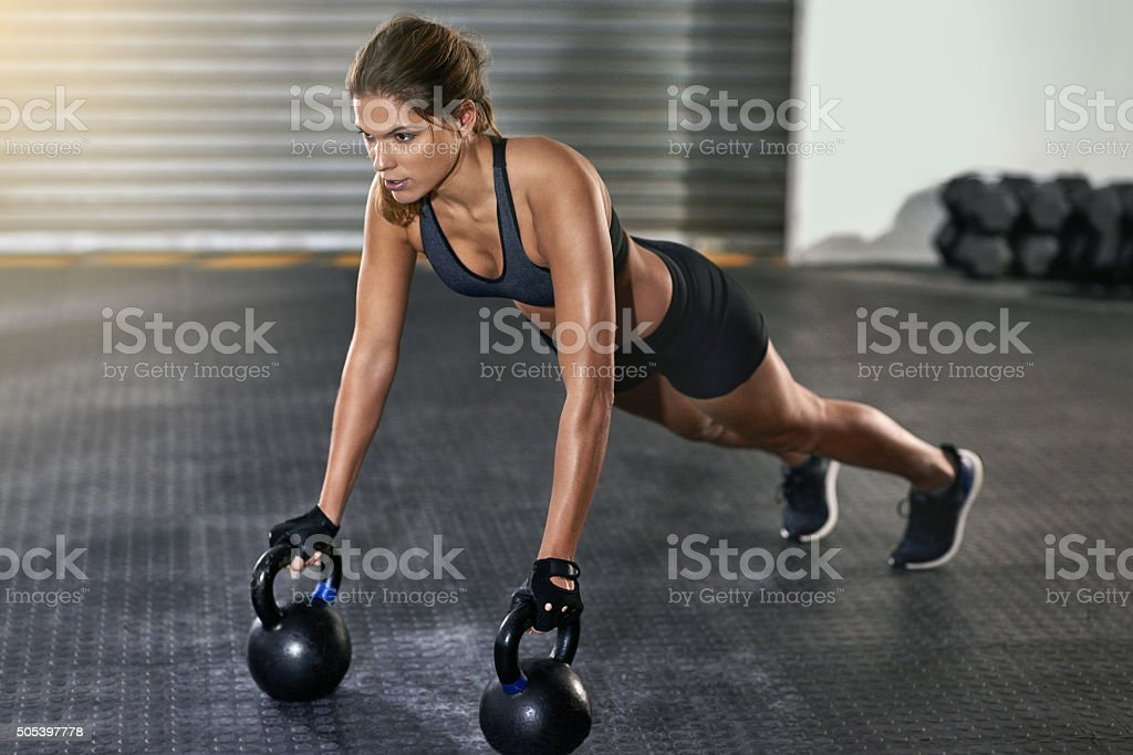 She makes working out look easy stock photo