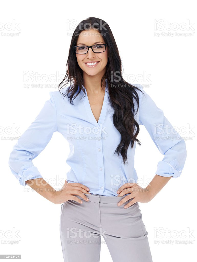 She means business royalty-free stock photo