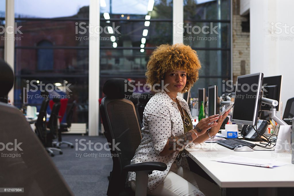 She Means Business... stock photo