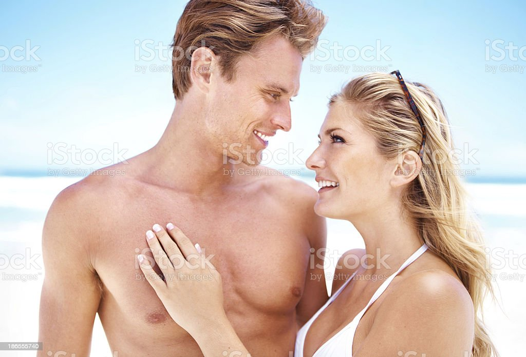 She only has eyes for him! royalty-free stock photo
