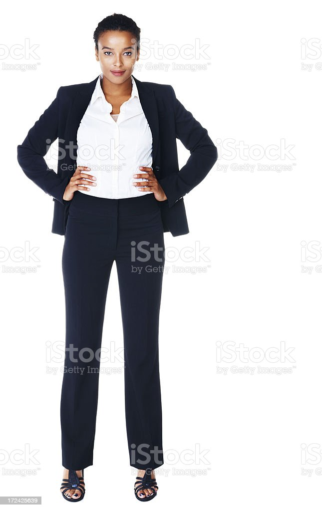 She owns the boardroom - Successful Business People royalty-free stock photo