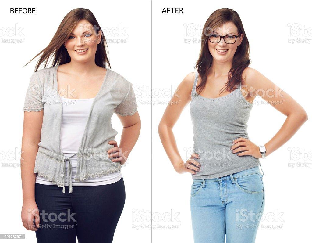 She radiates confidence stock photo
