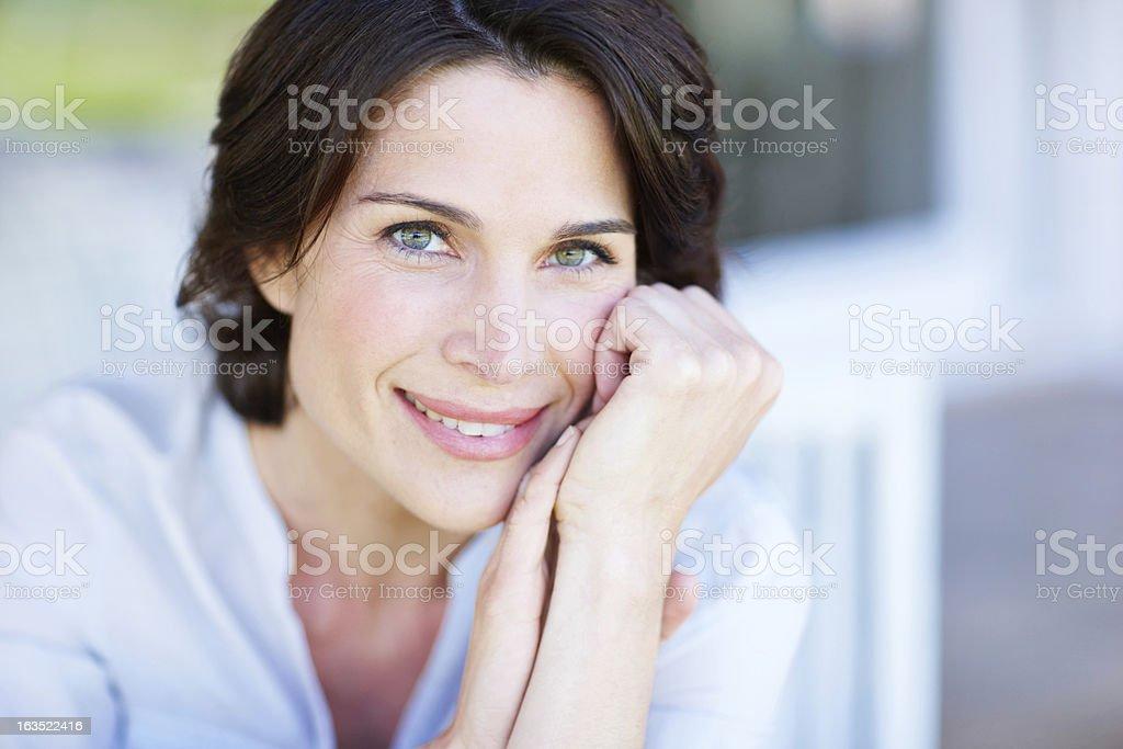 She radiates vitality royalty-free stock photo