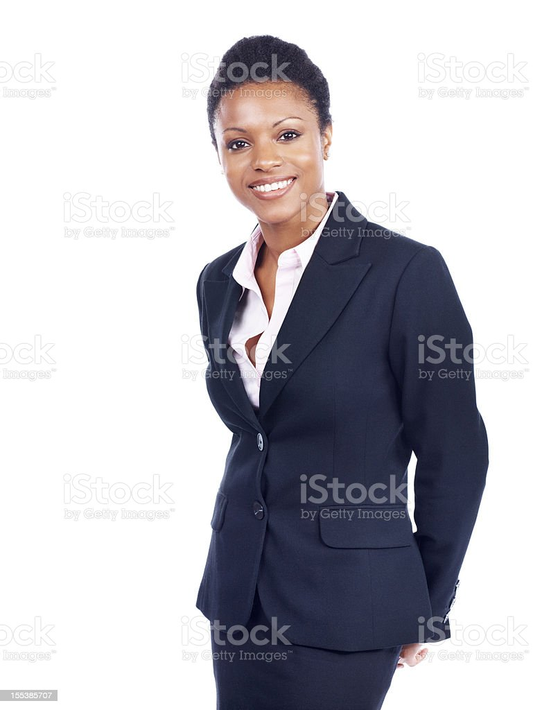 She sets a high standard - Business goals royalty-free stock photo